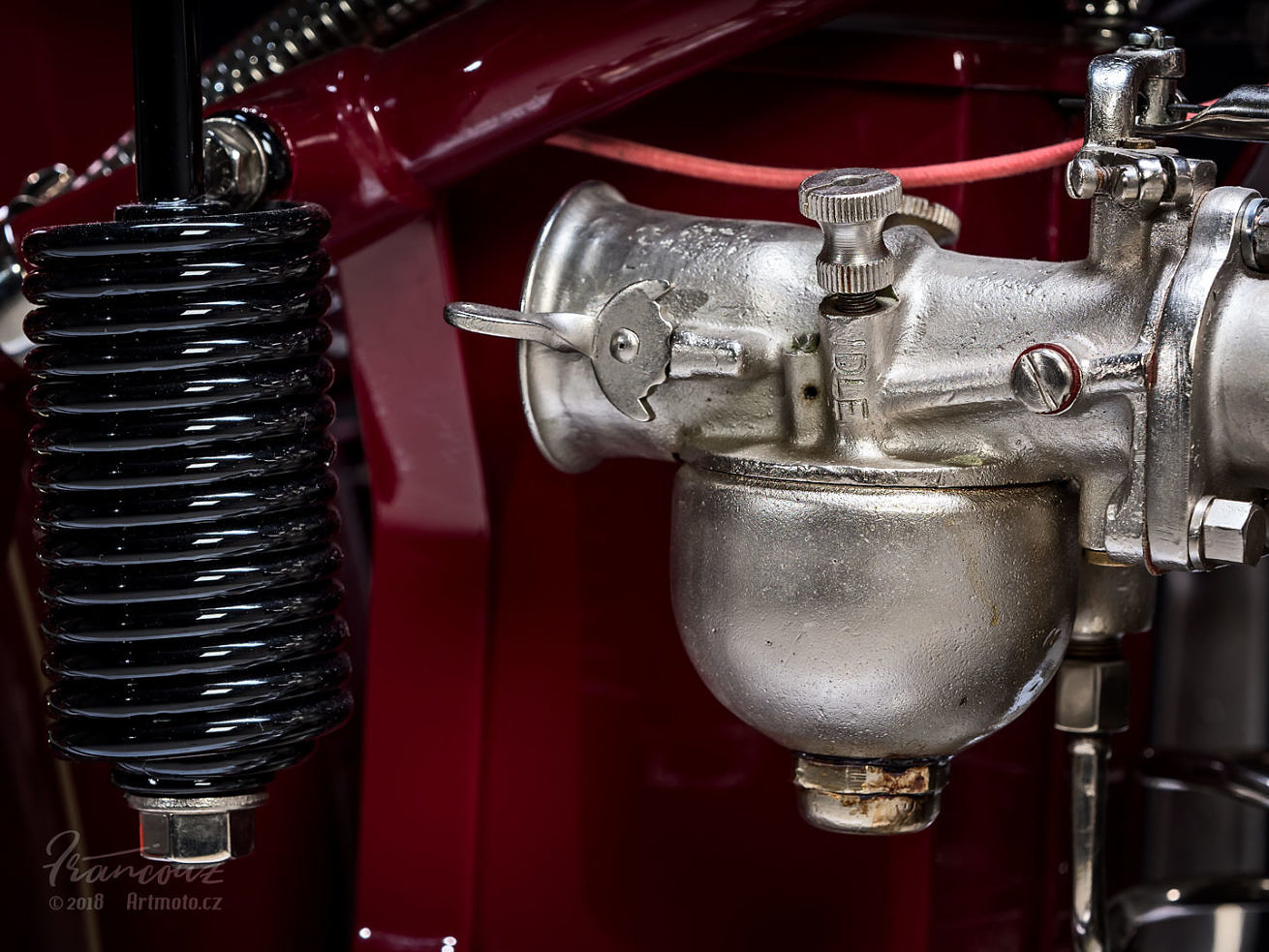 Details view of engine Indian Four 1930