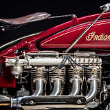 Detail engine vintage Indian Four 1930