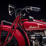 Left side view of Handlebars of vintage Indian Four 1930